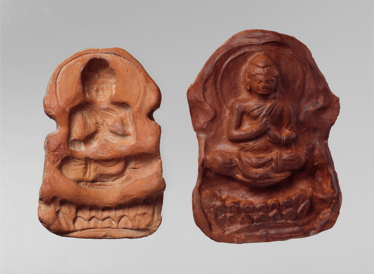 Mold and Impression of a seated Buddha