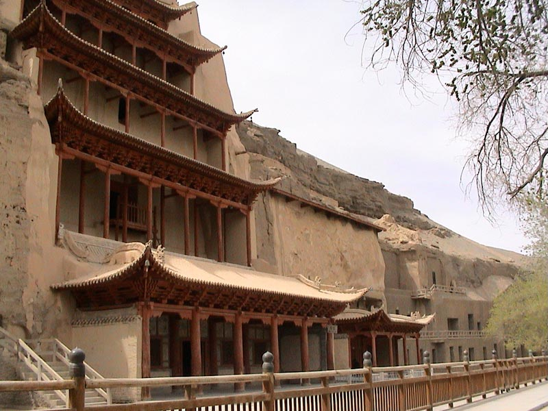 General view of Mogao Caves