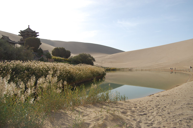 Crescent Lake in Gobi Desert